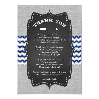 Cartão Obrigado que rústico do chá de fraldas da seta