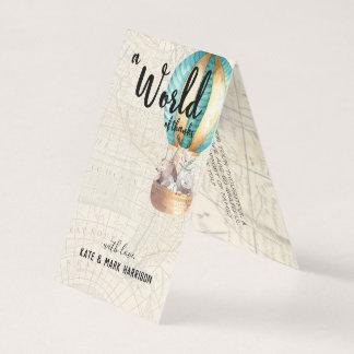 Cartão Obrigado que temático do chá de fraldas | do