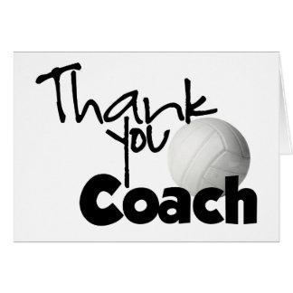 Cartão Obrigado que treina, voleibol