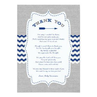 Cartão Obrigado que tribal do chá de fraldas da seta você