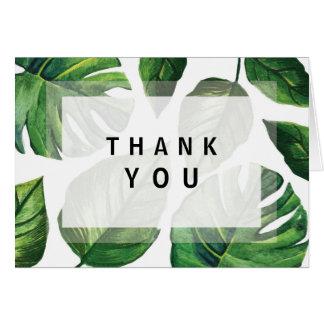 Cartão Obrigado que tropical você nota