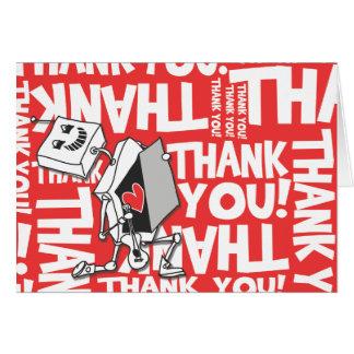 Cartão Obrigado robô