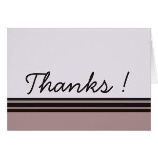 Cartão Obrigado roxo com preto