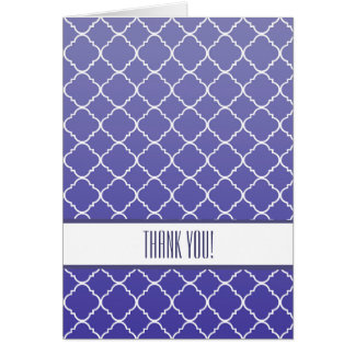 Cartão Obrigado roxo de Quatrefoil você