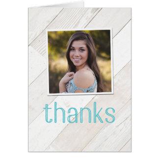 Cartão Obrigado rústico do lavagem política você Notecard
