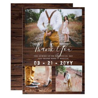 Cartão Obrigado RÚSTICO você celeiro da COLAGEM da FOTO
