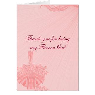 """Cartão """"Obrigado sendo meu florista """""""