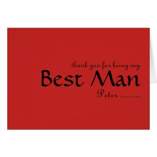 Cartão Obrigado sendo meu melhor homem