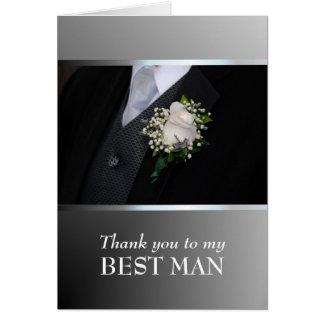 Cartão Obrigado sendo meu melhor homem - personalize