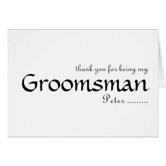 Cartão Obrigado sendo meu padrinho de casamento
