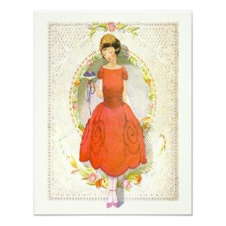 Cartão Obrigado sendo meu vintage da dama de honra
