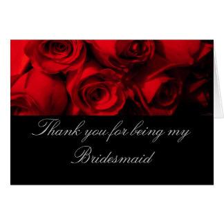 """Cartão """"Obrigado sendo minha rosa vermelha Bou da dama de"""