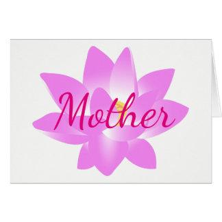 Cartão Obrigado serir de mãe