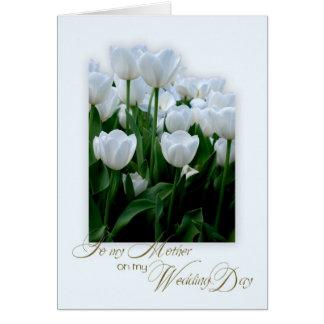 Cartão Obrigado serir de mãe em meu dia do casamento