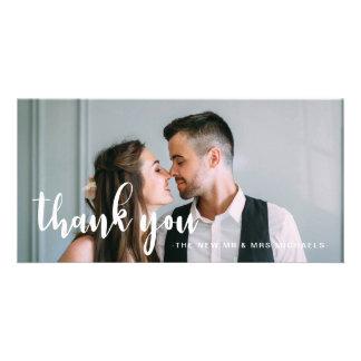 Cartão Obrigado simples e doce do casamento você