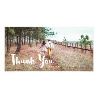 Cartão Obrigado simples e lunático do casamento você