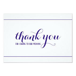 Cartão Obrigado simples & elegante dos azuis marinhos
