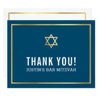 Cartão Obrigado simples MODERNO do BAR MITZVAH você