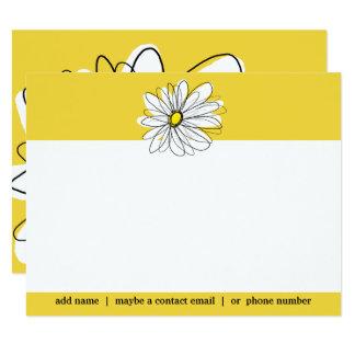 Cartão Obrigado social da margarida lunática amarela e