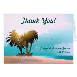 Cartão Obrigado temático da praia você