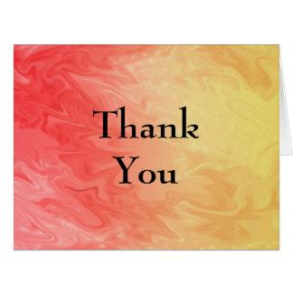 Cartão Obrigado textura amarela vermelha