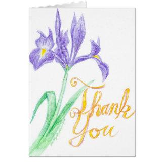 Cartão Obrigado tornar iridescente