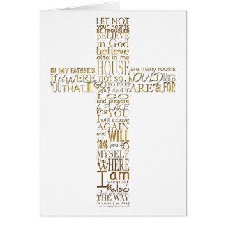 Cartão Obrigado transversal cristão dourado da simpatia