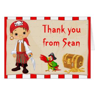 Cartão Obrigado triguenho do aniversário do menino do