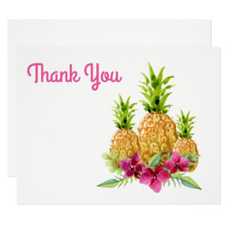 Cartão Obrigado tropical das samambaias das orquídeas dos
