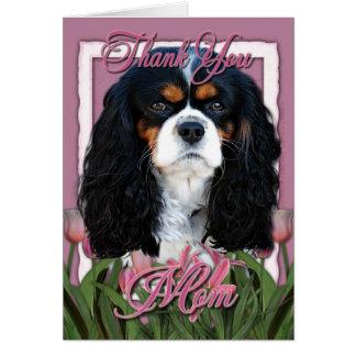 Cartão Obrigado - tulipas cor-de-rosa - Cavalier - Tri