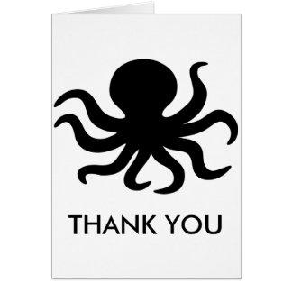 Cartão Obrigado vazio do polvo você Notecard