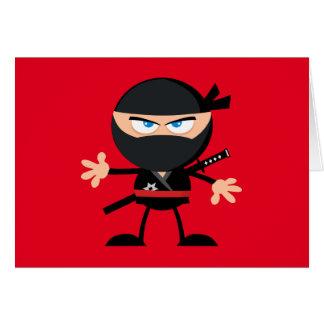 Cartão Obrigado vermelho do guerreiro de Ninja dos