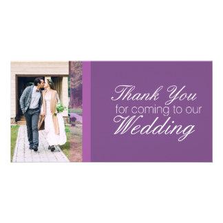 Cartão Obrigado vindo a nosso casamento personalizado