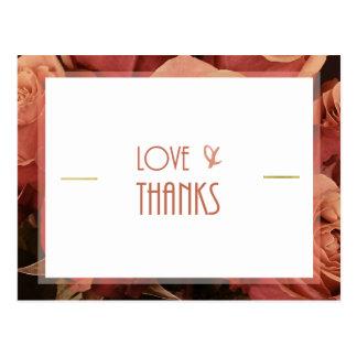 Cartão (obrigado você) cartão postal