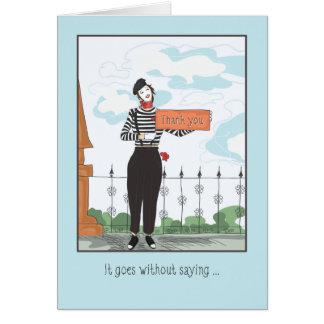Cartão Obrigado Você-vai sem dizer