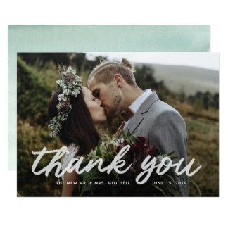Cartão Obrigado Wedding da foto da gratitude | de Boho