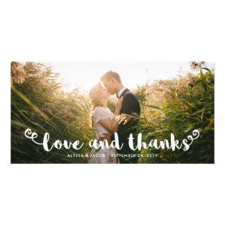 Cartão Obrigado | Wedding irrisório moderno você