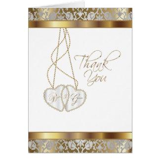 Cartão Obrigado Wedding você dos noivos