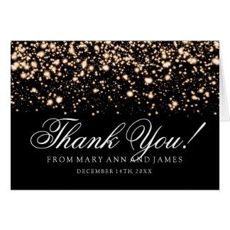 """Cartão """"Obrigado Wedding você"""" encanto da meia-noite do"""