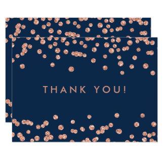 Cartão Obrigado Wedding você marinho cor-de-rosa dos