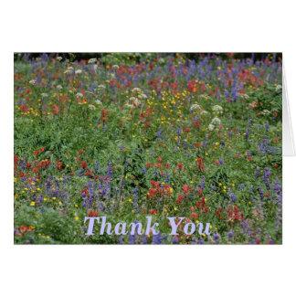 Cartão Obrigado Wildflowers