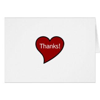 Cartão Obrigados de meu coração!
