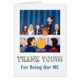 Cartão Obrigados de Mwedding MC