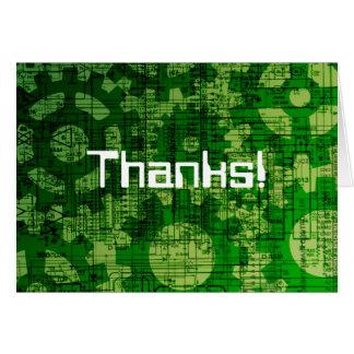Cartão Obrigados do suporte técnico!