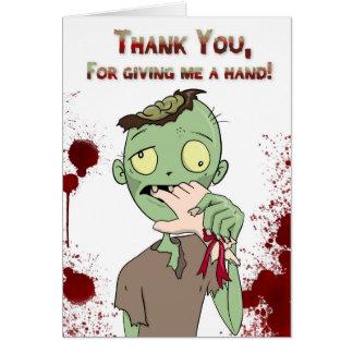Cartão Obrigados do zombi