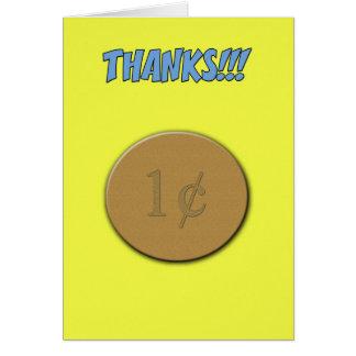Cartão Obrigados para nada
