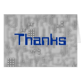 Cartão Obrigados para o computador de fixação