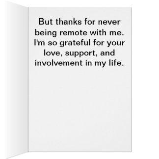 Cartão Obrigados para todo o apoio