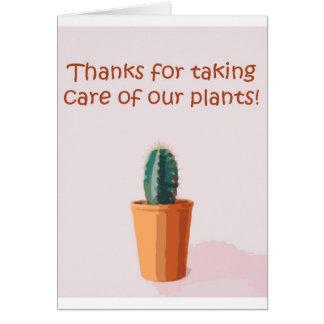 Cartão Obrigados para tomar de nossas plantas