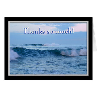Cartão Obrigados tanto Notecard -- Ondas de oceano